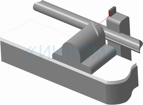 Laser sensor controls desplacement of a milling cutter support
