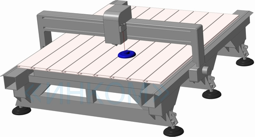 Laser 3D scanner on base of CNC machine